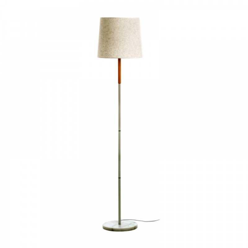 Inlight Επιδαπέδιο φωτιστικό λευκό μέταλλο με υφασμάτινο καπέλο 45375-WH