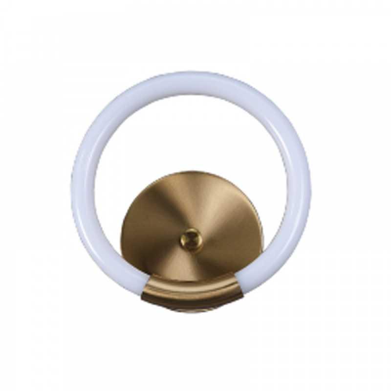 Επιτοίχιο φωτιστικό από χρυσαφί μέταλλο και σωλήνα PVC (43017-GL)